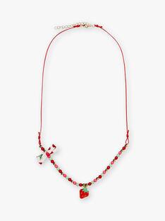 Collana di perline e ciondolo fragola ZOCOLETTE / 21E4PFZ1CLIF505