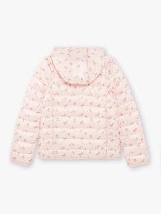 Piumino matelassé rosa con stampa a fiori e cappuccio ZALINETTE 3 / 21E2PFP1DTV307