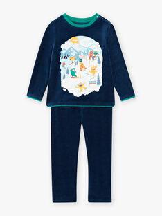 Set pigiama in velluto motivo mostri e sci bambino BISKIAGE / 21H5PG72PYJ717