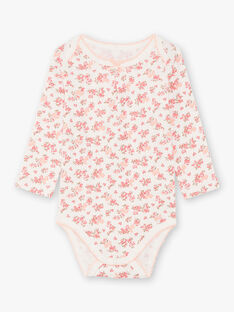 3 body bianco e rosa neonata BEFILLE / 21H5BF81BDL001