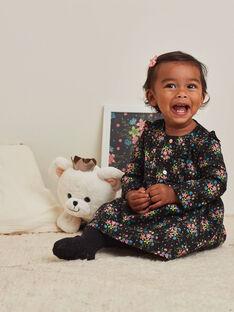 Abito nero maniche lunghe stampa a fiori neonata BAMAUD / 21H1BFM2ROB090
