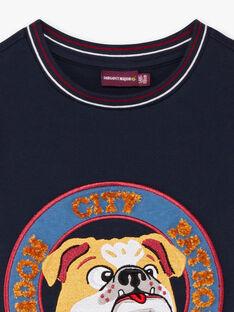 T-shirt navy bambino BEDODAGE / 21H3PG53TML070