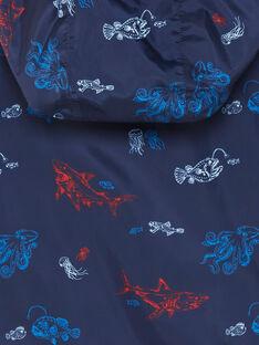 Giacca a vento blu con cappuccio e stampa marina ZUZOAGE / 21E3PGM1CPVC214