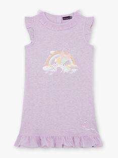 Camicia da notte malva unicorno bambina ZELIKETTE / 21E5PF21CHN328