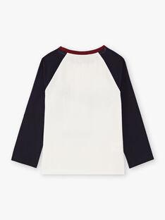 T-shirt navy ed ecrù bambino BETINAGE / 21H3PG92TML001