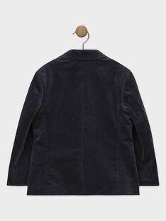 Giacca grigio scuro in velluto bambino SICHOAGE / 19H3PGP1VES941