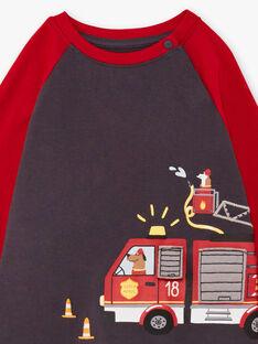 Pigiama maniche lunghe con stampa camion di pompieri bambino BEFIRAGE / 21H5PG66PYJ942