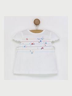 T-shirt maniche corte ecrù RAMADINE / 19E1BFE1TMC001