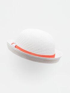 Cappello di paglia ecrù neonata TATIKA / 20E4BFW1CHA001