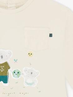 T-shirt maniche lunghe a righe beige e verde ZAARMAND / 21E1BG71TML009