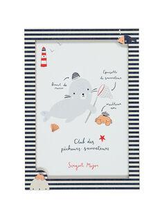 "Poster ""marinaio"" bianco ROPHOQAFF / 19EZLAX3AFF001"