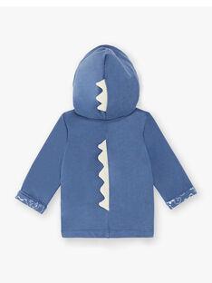 Felpa con cappuccio blu genziana neonato ZAEMIL / 21E1BGB1JGHC230