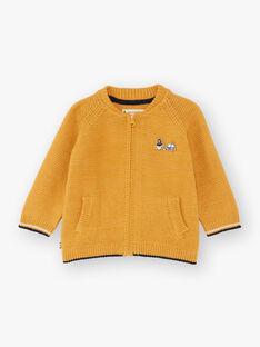 Cardigan senape neonato BAFAUST / 21H1BG51GILB114
