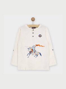 T-shirt maniche lunghe bianca RABESAGE / 19E3PG41TML001