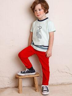 Pantaloni regular rossi in twill ZAGRETAGE / 21E3PGI3PAN050
