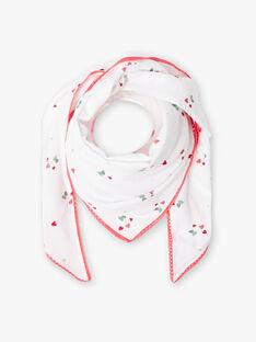 Foulard ecrù e rosa stampa fragola. ZOCOETTE / 21E4PFJ1FOU001