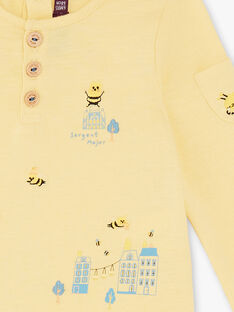 Light yellow T-SHIRT ZACOLIN / 21E1BG91TMLB103