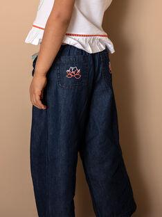Pantaloni ampi in denim con cintura ZEPALAZETTE / 21E2PFI1PANK005