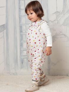 Tuta senza maniche beige stampa a fiori neonata BAEMMA / 21H1BF51SALA011