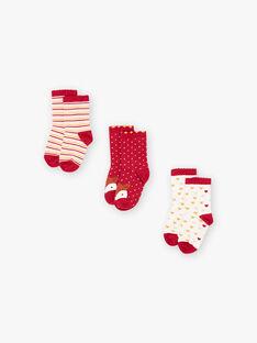 Set 3 paia di calze abbinate bambina BROFUETTE / 21H4PFB1LC3001