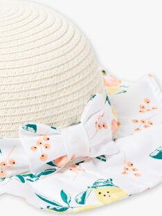 Cappello beige e bianco neonata ZANAE / 21E4BFO1CHA801