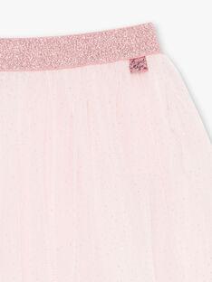 Gonna rosa chiaro glitterata bambina BROTUTETTE / 21H2PF31JUPD310