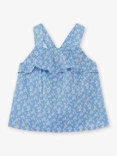Top lavanda con motivo a fiori bianco bambina ZUBLIETTE / 21E2PFT1CHEC208