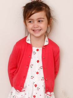 Cardigan bambina rosa guaiava ZOPAETTE / 21E2PFJ1CARD323
