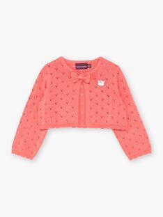 Cardigan corallo in maglia fantasia ZACELINE / 21E1BFI2CAR404