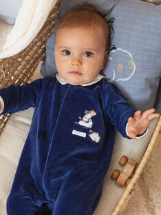 Tutina e berretto navy e bianco nascita bambino BOSCO B / 21H0NG42GRE070