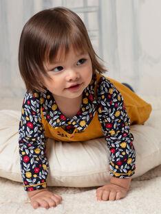 Body blusa navy stampa a fiori neonata BAELISE / 21H1BF51BOD070