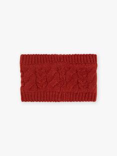 Scaldacollo in maglia intrecciata marrone scuro neonato BIORLAN / 21H4BGD1SNOI801
