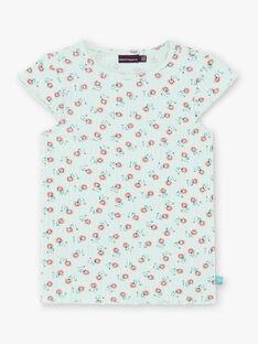 T-shirt verde con stampa a fiori ZETIZETTE 1 / 21E2PFI2TMC629