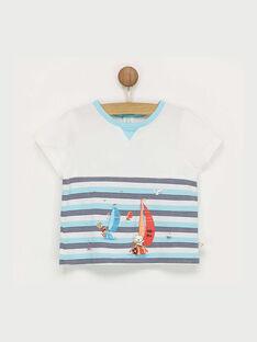 T-shirt maniche corte bianca con motivi RAGABRIEL / 19E1BGD1TMC001