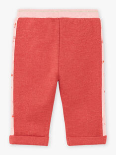 Pantaloni sportivi rosa neonata BAINA / 21H1BFJ1JGBD332