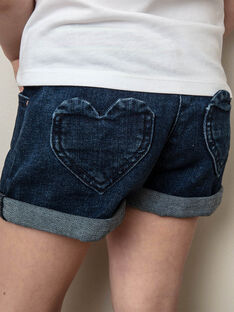 Shorts in jeans blu scuri bambina ZLOUETTE2 / 21E2PFL2SHOK005