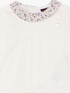 Camicia con collo a fiori neonata BACLAIRE / 21H1BF21CHE320