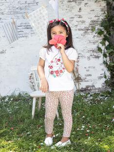 Leggings con stampa a fiori bambina BAZEGETTE / 21H4PF11CAL001