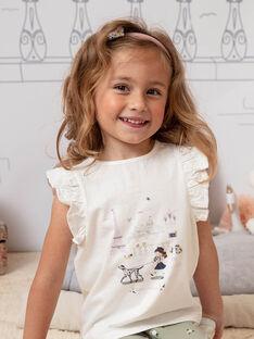 T-shirt ecrù bambina BETOETTE / 21H2PF21TMC001