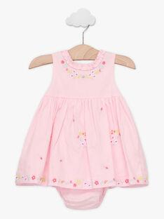 Abito rosa ricamato neonata TALOISE / 20E1BFJ1CHS321