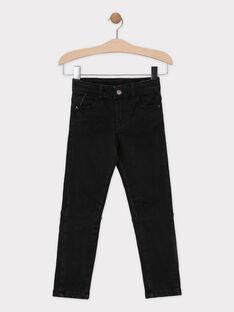 Jeans in denim nero con fodera in jersey bambino SIOGAGE / 19H3PGO1JEAK003
