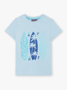 T-shirt celeste a motivi tavole da surf ZUZAGE4 / 21E3PGL4TMC020