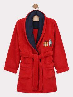 Vestaglia in finta pelliccia rossa bambino SOROBAGE / 19H5PGQ1RDC511