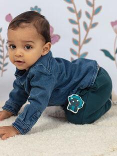 Pantaloni verdi smeraldo ricamati dinosauro neonato BAJENSEN / 21H1BG91PAN608