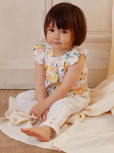 Blusa bianca neonata ZANINA / 21E1BFO2CHE000