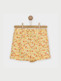 Shorts gialli RYFLOETTE / 19E2PFH1SHO010