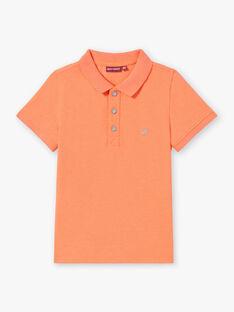 Polo a tinta unita arancione fluo bambino ZYPOLAGE6 / 21E3PGW1POLE411