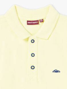 Polo a tinta unita giallo fluo bambino ZYPOLAGE5 / 21E3PGW4POLB113