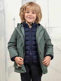 Impermeabile verde kaki e piumino staccabile bambino BAPARAGE / 21H3PGC1IMP604