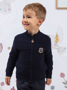 Cardigan navy in maglia bambino BETILAGE / 21H3PG91GIL715
